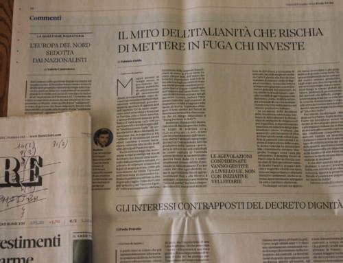 Il collasso del sistema Italia in autunno del 2018