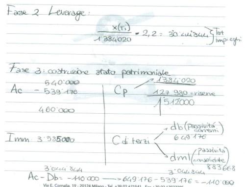 Redazione bilancio con dati a scelta/2. Prof Carlini